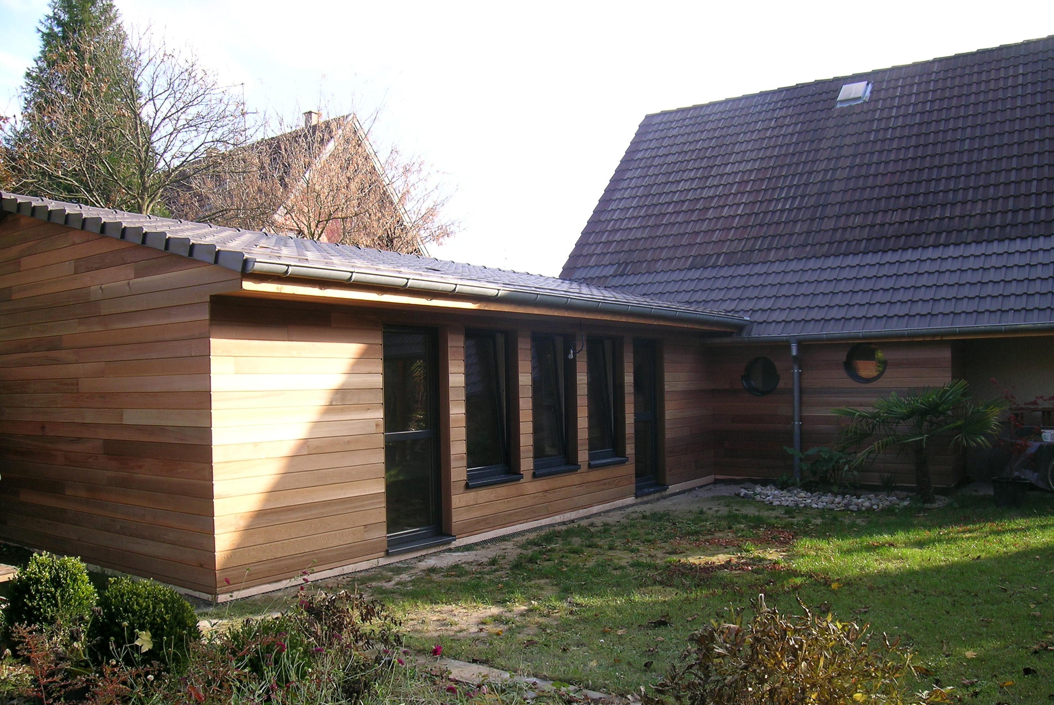 Agrandir sa maison par une extension bois les architecteurs for Agrandir maison bois
