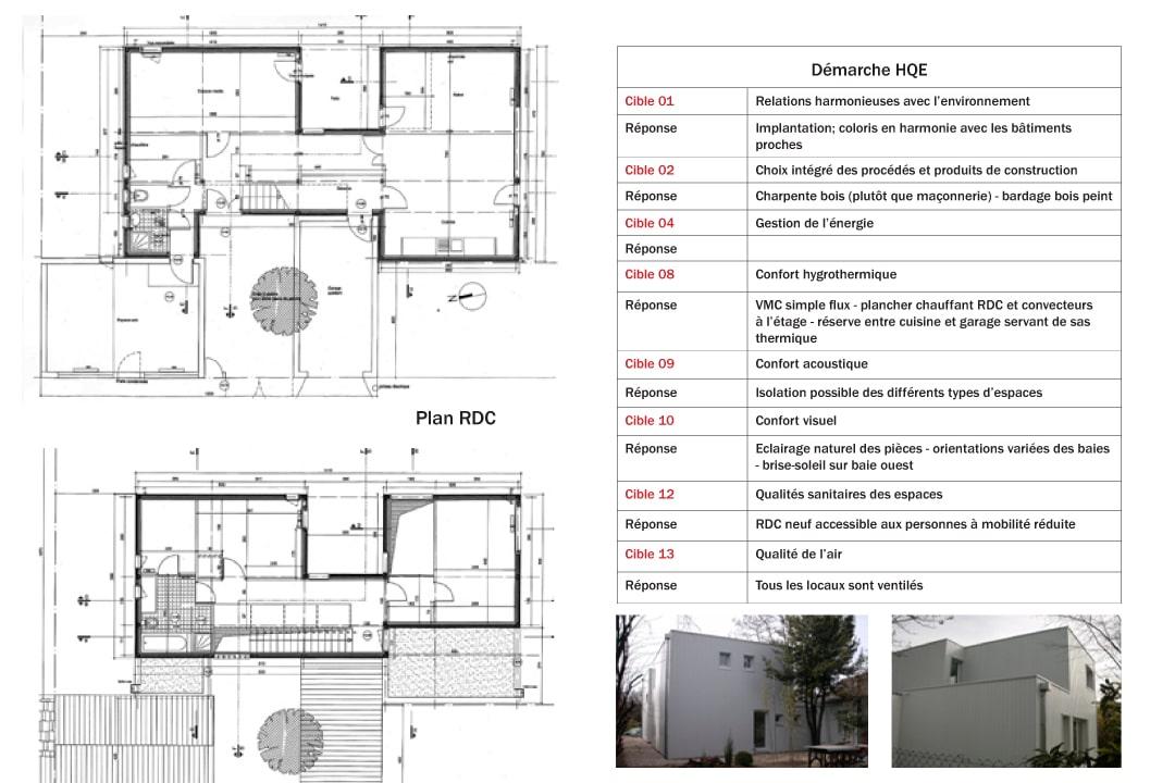 MAISON A OSSATURE BOIS POUR UNE DEMARCHE HQE  Les Architecteu