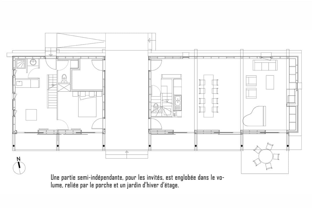 Populaire MAISON LONGERE - Les Architecteurs YE58