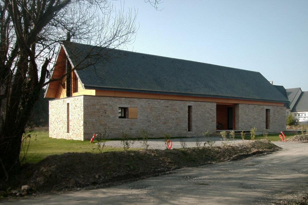 Maison longere les architecteurs - Temperature maison hiver ...