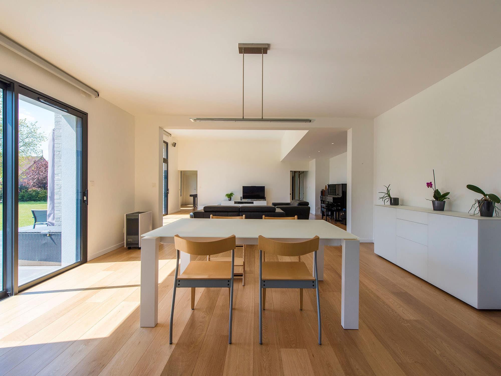 maison cubique moderne interieur