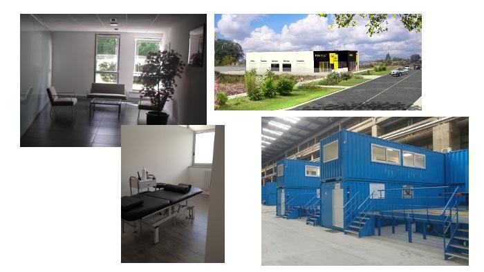 Bureaux, garage, industrie