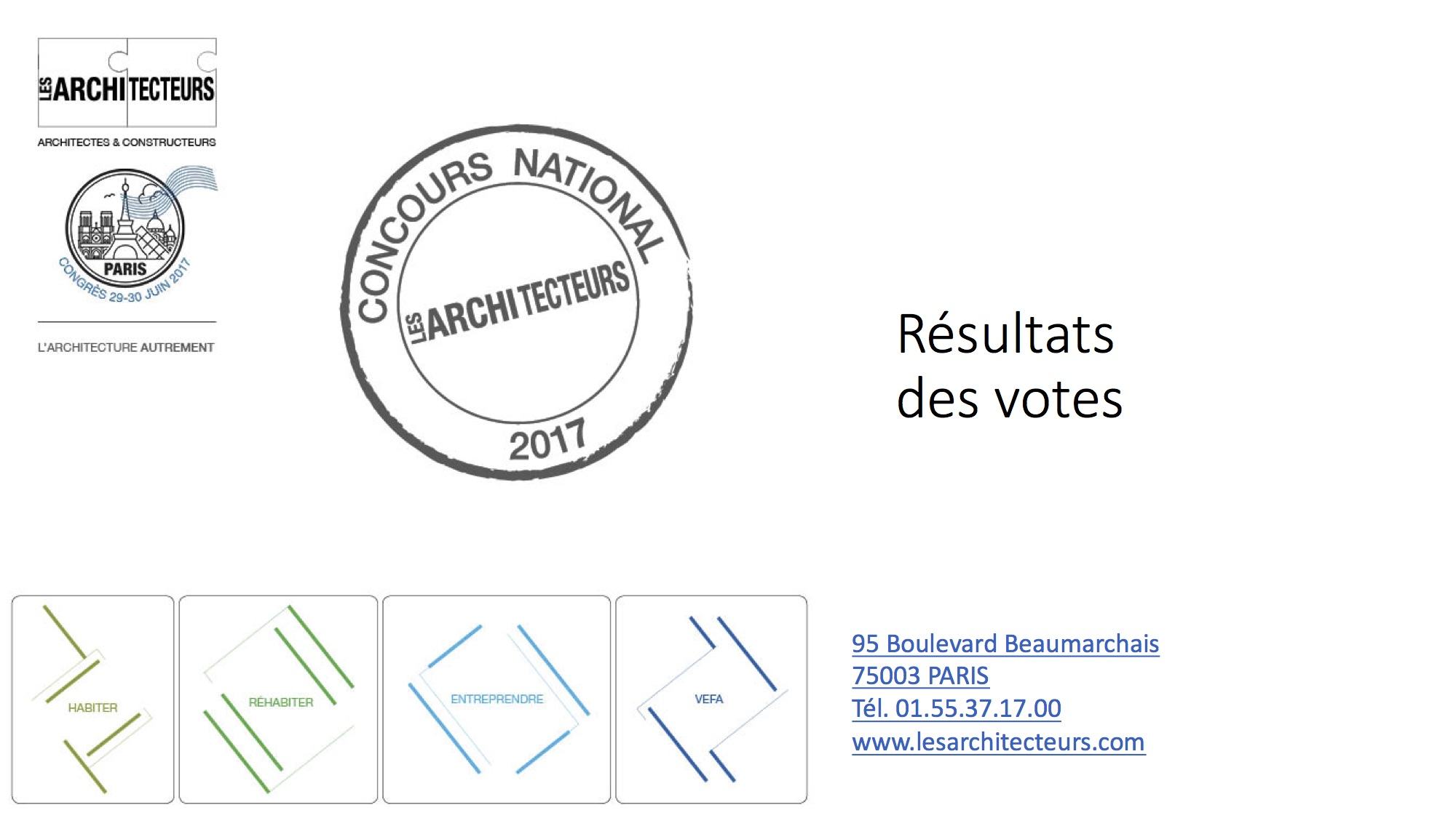 RESULTATS CONCOURS 2017