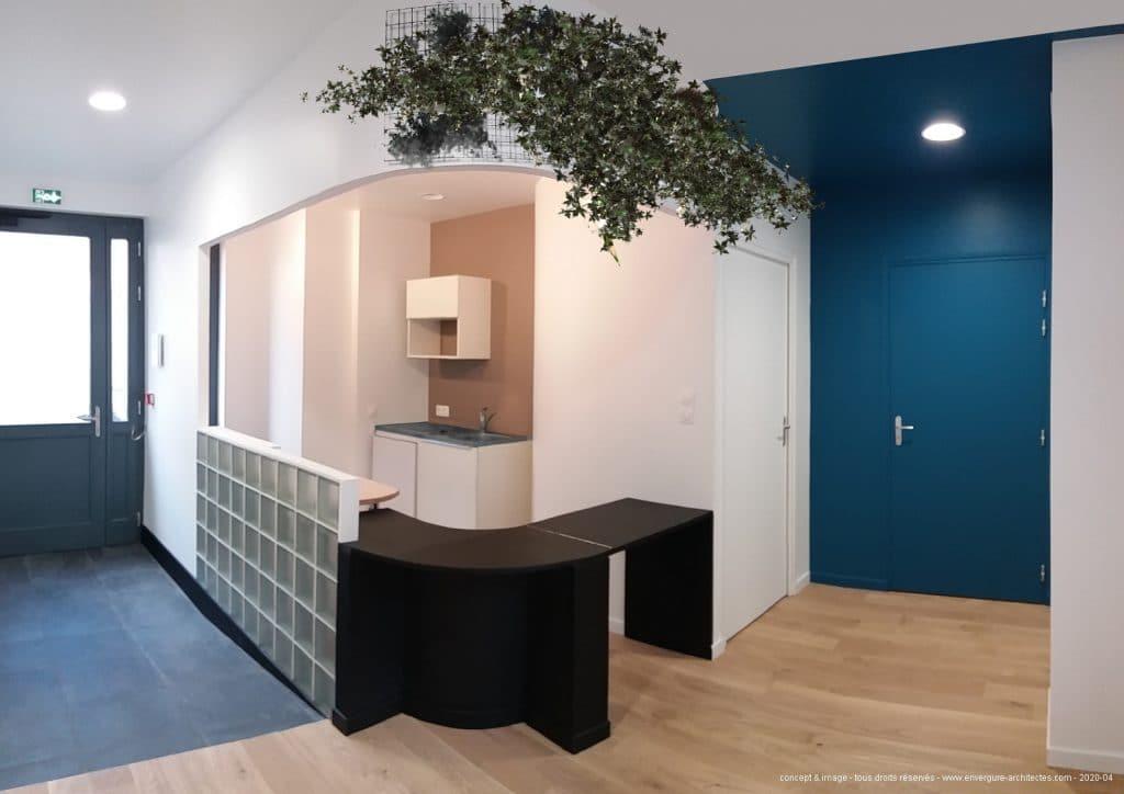 CABINET MÉDICAL - les espaces d'accueil