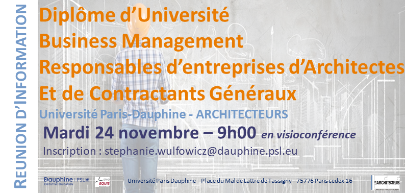 PARIS DAUPHINE REUNION 24 NOV BUSINESS ARCHI
